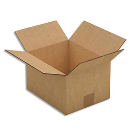 Caisse carton brune - double cannelure - 25 x 15 x 20 cm - lot de 15 (photo)