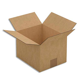 Caisse carton brune - simple cannelure - 23 x 16 x 19 cm - lot de 25 (photo)