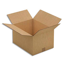 Caisse carton brune - double cannelure - 41 x 24 x 31 cm - lot de 15 (photo)