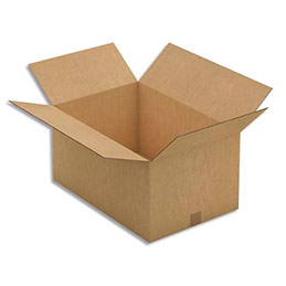 Caisse carton brune - double cannelure - 60 x 30 x 40 cm - lot de 10 (photo)