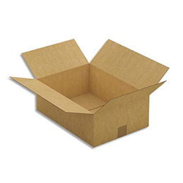 Caisse carton brune - simple cannelure - 43 x 15 x 30 cm - lot de 25 (photo)