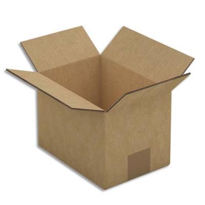 caisse carton brune double cannelure 20 x 14 x 14 cm lot de 15 achat pas cher. Black Bedroom Furniture Sets. Home Design Ideas