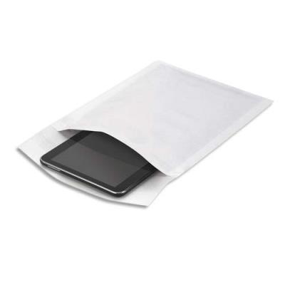 Pochette matelassée bulles d'air en kraft blanc - 18 x 26 cm - boîte de 100 (photo)