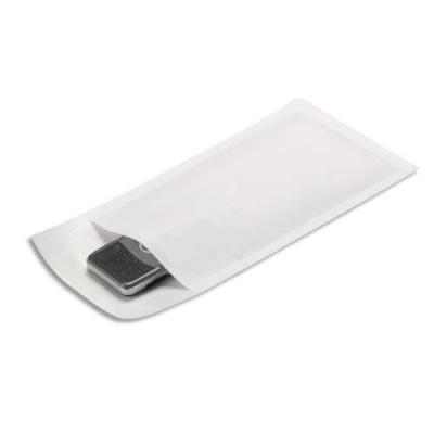 Pochette matelassée bulles d'air en kraft blanc - 12 x 21 cm - paquet de 10 (photo)