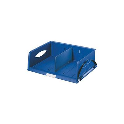Corbeille Leitz Sorty - format paysage A4 maxi - L40,8 x H12,7 x P40,8 cm - bleu