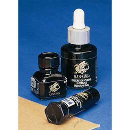 Flacon d'encre de chine Lefranc & Bourgeois - 11ml - noir Nan-King (photo)