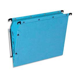 Dossiers suspendus à onglets en kraft bleu L'Oblique AZ - pour armoire - fond V - lot de 5 (photo)