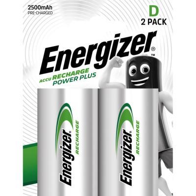 Pile Energizer D HR20 Power plus - rechargeable - 2500 mAh - blister de 2 piles