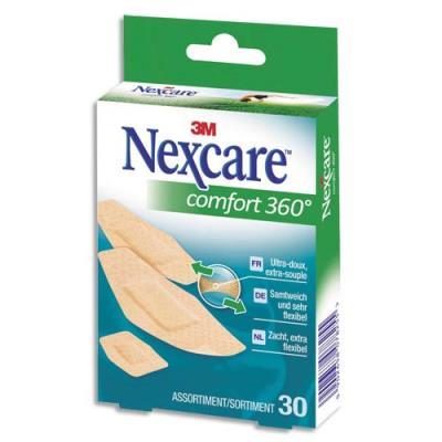 Pansements Comfort assortis micro-aéré Nexcare - boite de 30 (photo)