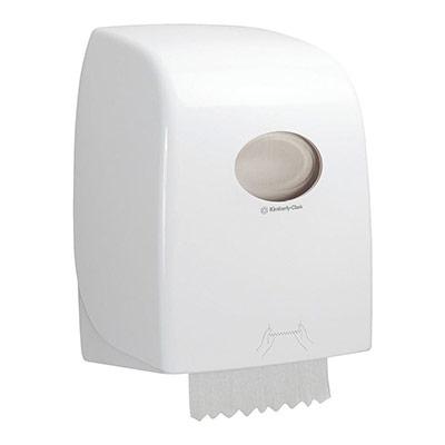 Distributeur d'essuie-mains en rouleau blanc (photo)