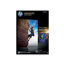 HP Advanced Glossy Photo Paper - brillant - A4 (210 x 297 mm) - 250 g/m² - 25 feuille(s) papier photo - pour Envy 50XX; Ink Tank Wireless 410; Officejet 52XX; Smart Tank Plus 55X, 571, 655 (photo)
