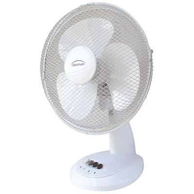 Ventilateur de table - diamètre 30 cm - 40 W - blanc