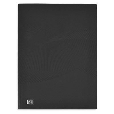Protège-documents Oxford Oxford Osmose A4 - 80 pochettes en polypropylène - couverture opaque noire