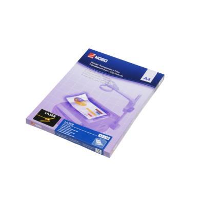 Film laser transparent Nobo - A4 - 210 x 297 mm - transparent - paquet 50 unités