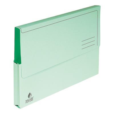 Porte-documents Exacompta Nature Future 300 feuilles A4 220 g/m² carton comprimé vert - paquet 10 unités