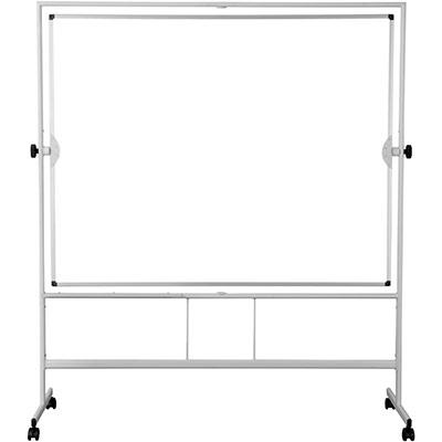 Tableau blanc mobile pivotant Bi-Office - effaçable à sec -150 cm x 120 cm