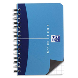 Carnet Oxford Office - reliure spirale - 9 x 14 cm - 180 pages - petits carreaux - papier 90g (photo)