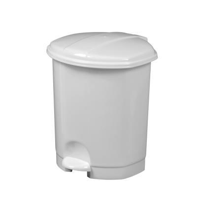 Poubelle à pédale Prima - 5 litres - blanc