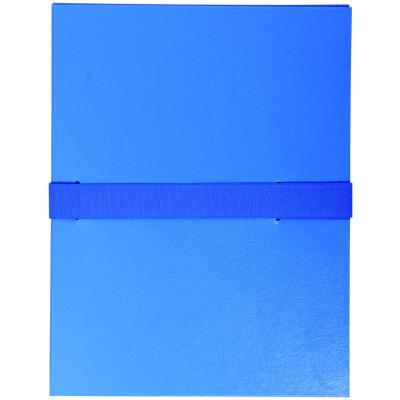 Chemise extensible Exacompta - en balacron - fermeture par sangle velcro - bleu foncé