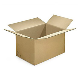 Caisse carton brune - double cannelure - 50 x 40 x 40 cm (photo)