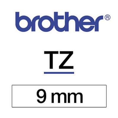 Ruban TZN221 Brother - Ruban noir/blanc - 9 mm x 8 m