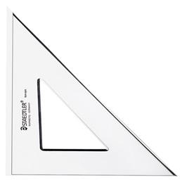 Equerre en plexiglas Staedtler - 45 degrés - 26cm (photo)