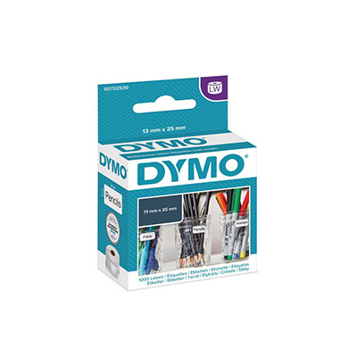 Etiquette multi-usages papier 25 x 13 mm Dymo S0722530 blanche - Rouleau de 1000