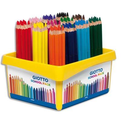 Schoolpack 108 crayons gros module Méga  PEFC couleurs assorties (photo)