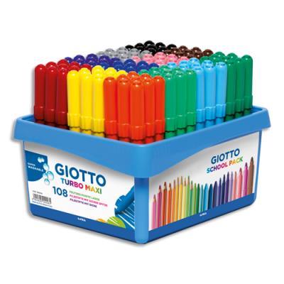 Schoolpack de 108 feutres Turbo Maxi couleurs assorties (photo)