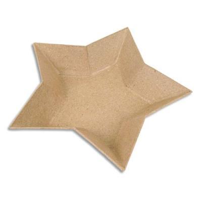 Lot de 10 coupelles forme étoile en papier mâché à décorer (photo)