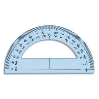 Rapporteur 180° 12 cm en plastique incassable (photo)