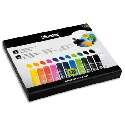 Schoolpack de 96 sticks de gouache 10g couleurs assorties (photo)