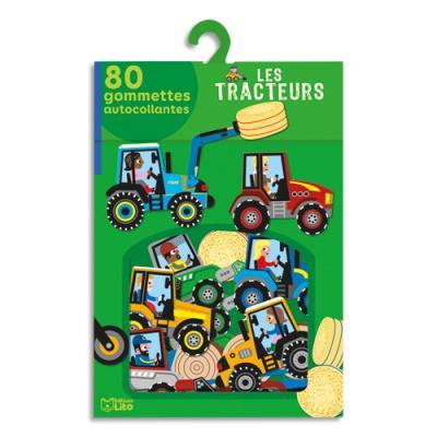 Boîte de 80 gommettes les machines agricoles (photo)