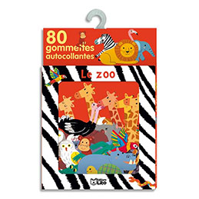 Boîte de 80 gommettes le zoo (photo)