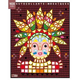 Bloc de 7 images et 1000 gommettes mosaïques, 21 x 26,5 cm, indiens (photo)