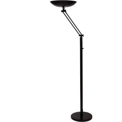 Lampadaire articulé led Unilux Varialux - noir - 180 cm - 2200 lumens (photo)