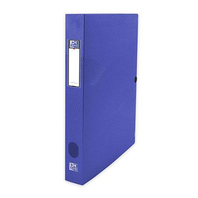 Boîte de classement Oxford Osmose 24X32 - dos de 4 cm en polypropylène opaque - bleu