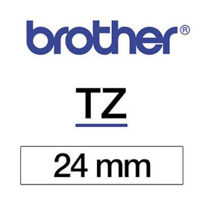 Ruban Brother TZ251- Ruban noir/blanc - Rouleau (2,4 cm x 8 m)