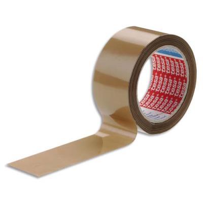 Ruban adhésif  d'emballage Tesa - PVC havane - colle caoutchouc - 52 microns - 50 mm x 66 m (photo)
