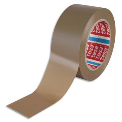 Ruban d'emballage PVC colle caoutchouc - 52 microns - 50 mm x 100 m - havane (photo)
