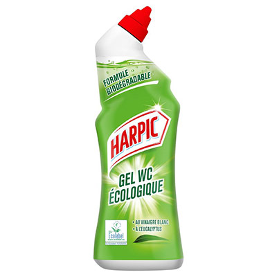 Gel WC Harpic écologique senteur Eucalyptus - flacon de 750 ml (photo)