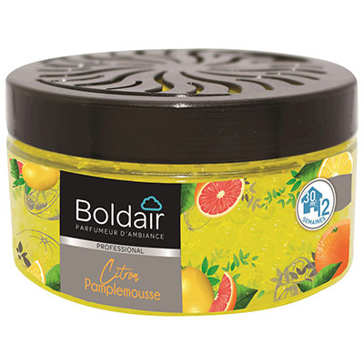 Billes parfumantes Boldair - 300 g - couvercle régalble - parfum citron pamplemousse - pot (photo)