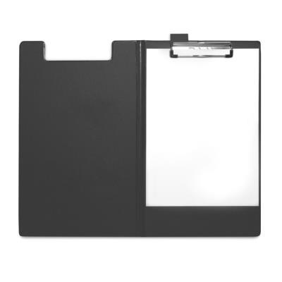Porte-bloc Pergamy - PVC - 23,3 x 34 cm - avec rabat - pour documents A4+ - noir