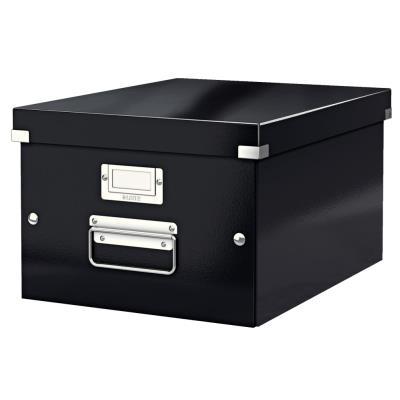 Boîte Leitz Click & Store Taille M - format A4 - capacité 17L - noir