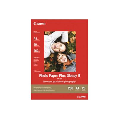 Canon Photo Paper Plus Glossy II PP-201 - brillant - 130 x 180 mm - 260 g/m² - 20 feuille(s) papier photo - pour PIXMA iP2700, iX7000, MG2555, MP210, MP520, MP610, MP970, MX300, MX310, MX700, MX850 (photo)