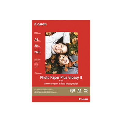 Canon Photo Paper Plus Glossy II PP-201 - brillant - A3 (297 x 420 mm) - 20 feuille(s) papier photo - pour PIXMA iX4000, iX5000, iX7000, PRO-1, PRO-10, PRO-100, Pro9000, Pro9500 (photo)