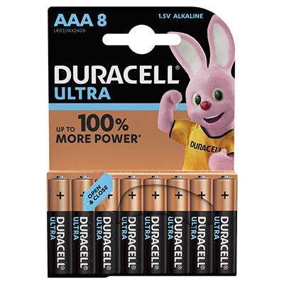 Piles AAA - LR03 - Alcaline par 8 - 1,5V - Duracell Ultra Power (photo)