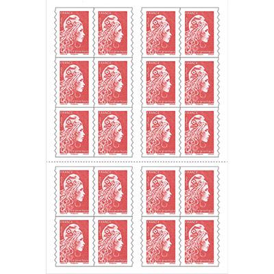 Carnet de 20 timbres postaux autocollants Lettre prioritaire - soumis à conditions