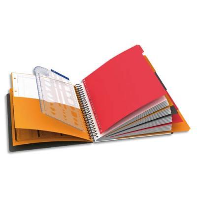 Cahier Oxford Managerbook - reliure spirales - A4+ - 160 pages perforées - spécial projets
