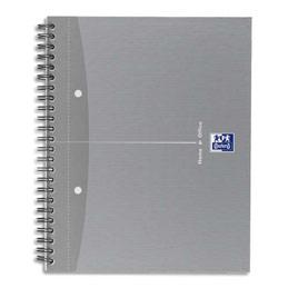 Cahier Oxford spiralé SOHO - A5+ - 120 pages perforées 4 trous 5x5 - couvertures assorties